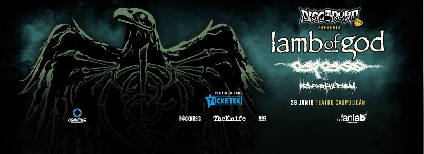 Lamb of god, Carcass y Heaven Shall Burn en Chile